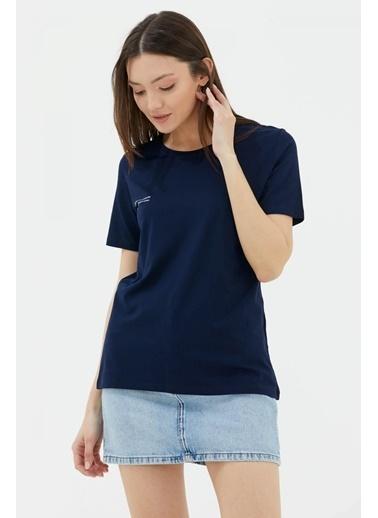 Sementa Basic Yazı Baskılı Tshirt - Lacivert Lacivert